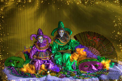 Mardi Gras 2014 Poster by Donna Kennedy