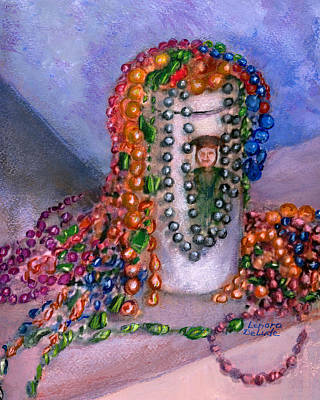 Mardi Gras Beads In Louisiana Poster