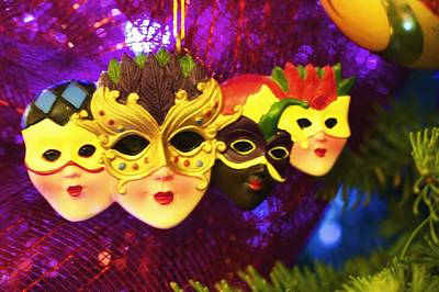 Mardi Gras Christmas Poster