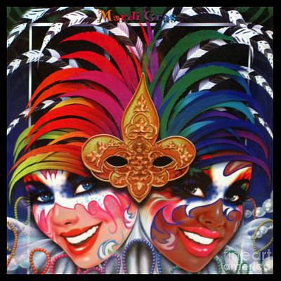 Mardi Gras Poster Poster by Steven Parker