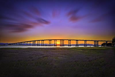 Mare Island Bridge At Sunset Poster
