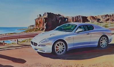 Maserati In Erice Poster by Marco Ippaso