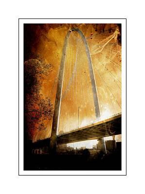 Margaret Hunt Hill Bridge Dallas Texas Poster by Kathy Churchman