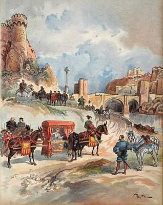 Margaret Of France Visiting Poster by Albert Robida