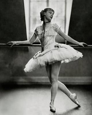 Margaret Petit At The Barre Poster by Nickolas Muray