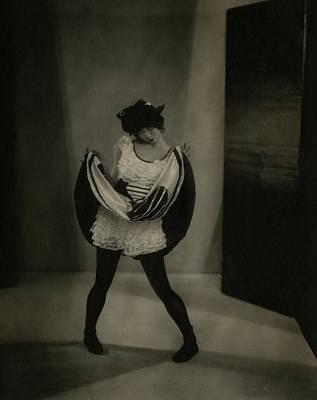 Margaret Severn Pulling Up Her Skirt Poster