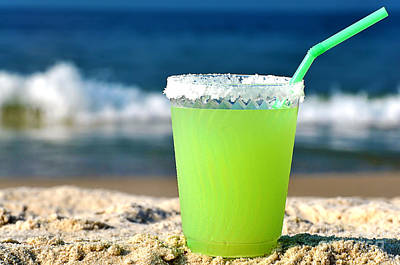 Margarita On The Beach Poster