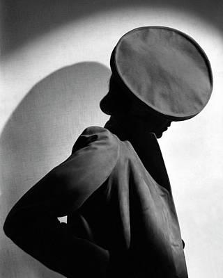 Margot Gaylor Wearing A Schiaparelli Beret Poster by Horst P. Horst