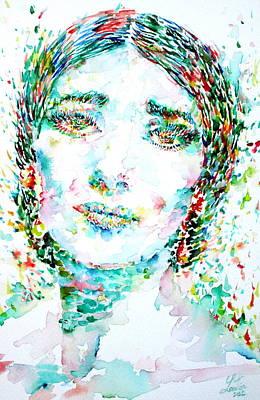 Maria Callas - Watercolor Portrait.1 Poster