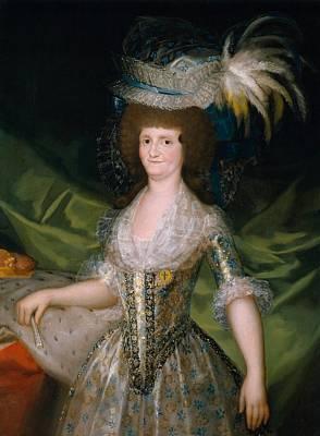 Maria Luisa De Parma Reina De Espana Poster by Francisco Goya