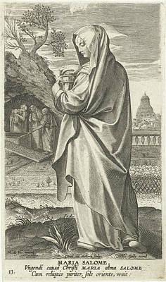 Maria Salom, Karel Van Mallery, Philips Galle Poster by Karel Van Mallery And Philips Galle And Cornelis Kiliaan