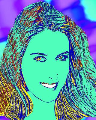 Maria Sharapova Golden Poster by Dalon Ryan