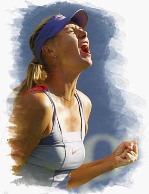 Maria Sharapova - Us Open 2011 Poster by Don Kuing