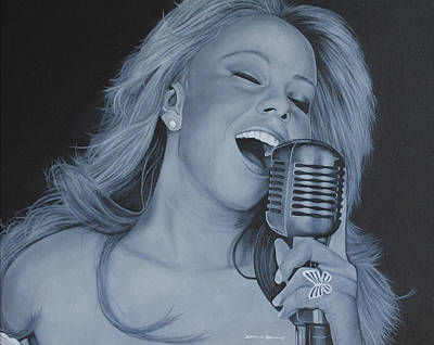 Poster featuring the painting Mariah Carey by David Dunne