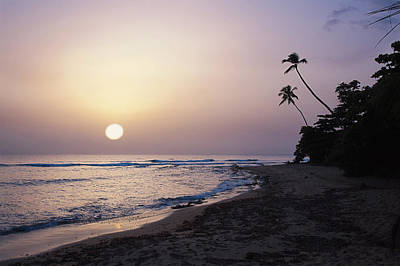 Marias Beach Sunset Rincon Puerto Rico Poster by George Oze