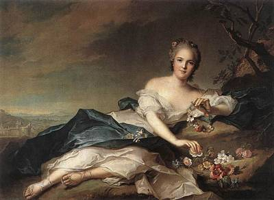 Marie Adelaide Of France As Flora Poster by Jean-Marc Nattier