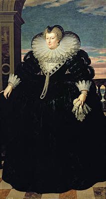 Marie De Medici 1573-1642 Queen Of France, 1617 Oil On Canvas Poster by Frans II Pourbus