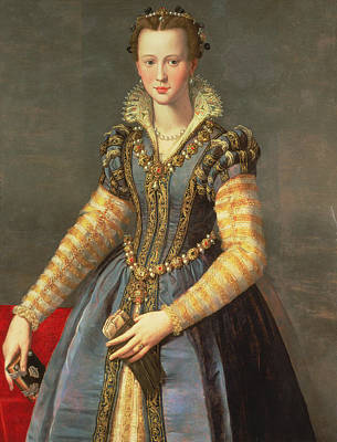 Marie De Medici 1573-1642, Wife Of Henri Iv Of France 1553-1610 Panel Poster by Alessandro Allori
