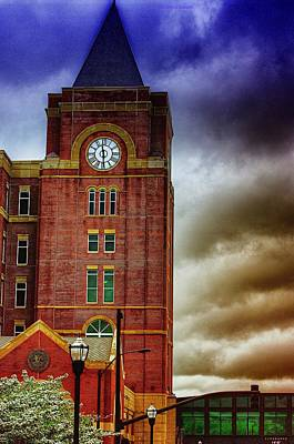 Poster featuring the photograph Marietta Clock Tower by Dennis Baswell