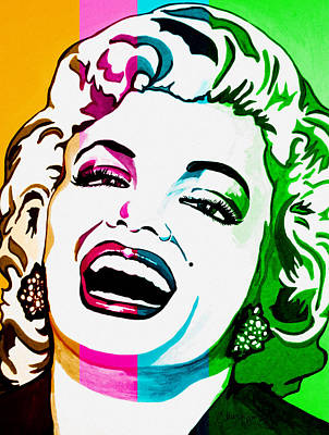 Marilyn Color Blocked Poster by Colleen Kammerer