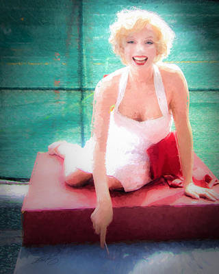 Poster featuring the painting Marilyn by Ike Krieger