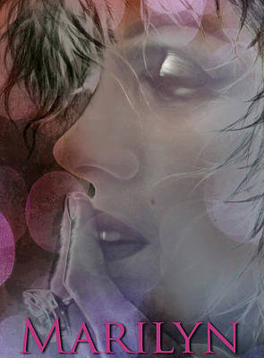 Marilyn In Bokeh Poster by Greg Sharpe