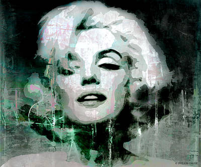 Poster featuring the digital art Marilyn by Kim Gauge