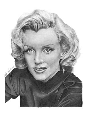 Poster featuring the drawing Marilyn Monroe - 025 by Abbey Noelle