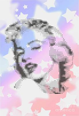 Marilyn Monroe Among White Stars Poster by Rodolfo Vicente