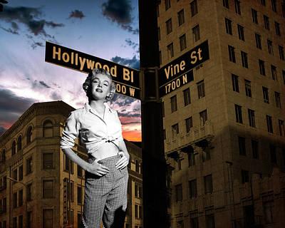Marilyn Monroe At Hollywood Blvd Poster