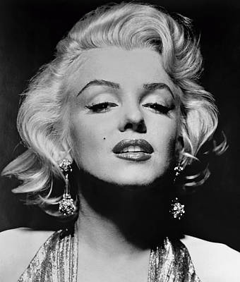 Marilyn Monroe Black And White Poster by Georgia Fowler