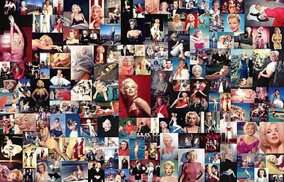 Marilyn Monroe Collage Poster by Taylan Apukovska