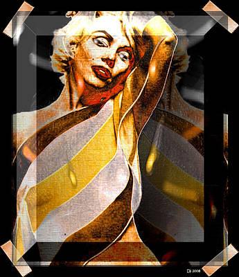 Poster featuring the digital art Marilyn Monroe by Daniel Janda