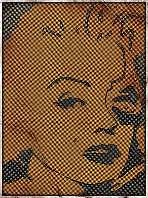 Marilyn Monroe In Pop Art Poster by Robert Margetts