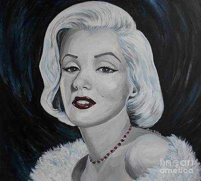 Poster featuring the painting Marilyn Monroe by Julie Brugh Riffey