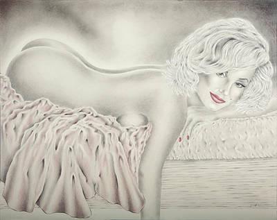 Marilyn Monroe Reclining Nude Poster
