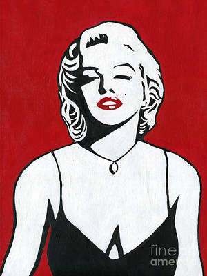 Poster featuring the painting Marilyn Monroe by Roz Abellera Art