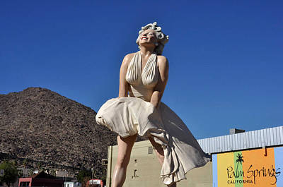 Marilyn Monroe Statue In Palm Springs California Poster by Diane Lent