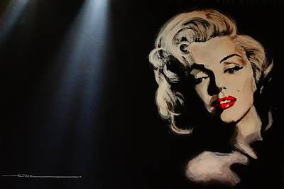 Poster featuring the painting Marilyn Monroe - Tmi by Eric Dee