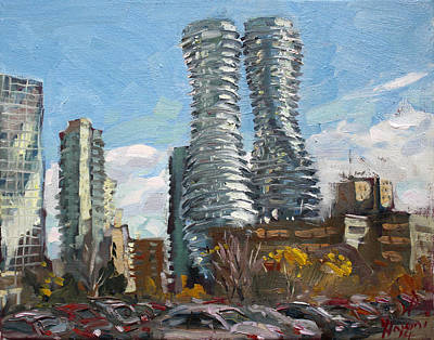 Marilyn Monroe Towers In Mississauga Poster by Ylli Haruni