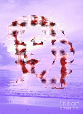 Marilyn On Velvet Beach Poster by Rodolfo Vicente