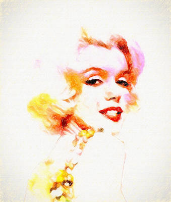 Marilyn The Pink Sketch Poster by John Farr