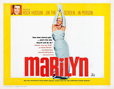 Marilyn, Us Lobbycard, Rock Hudson Top Poster by Everett