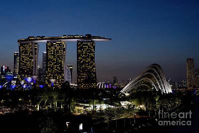 Marina Bay Skyline Poster by Ivy Ho