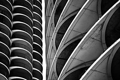 Marina City Chicago 2 Poster by Niels Nielsen