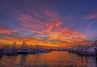 Marina Sunset Poster by Island Photos