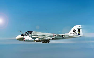 Marine A-6 Intruder Poster by Peter Chilelli