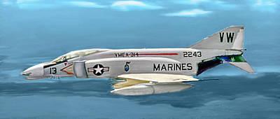 Marine F-4 Phantom  Painting Poster