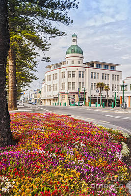 Marine Parade In Spring Napier New Zealand Poster
