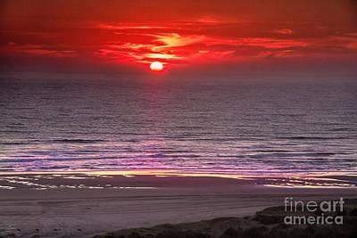 Marine Sunset Poster by Robert Bales